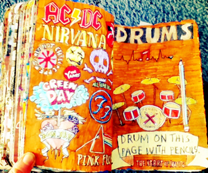band, drawing, and drum image