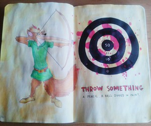 robin hood, wreck this journal, and WTJ image