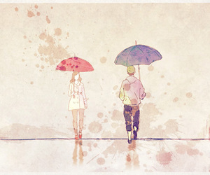 anime, colors, and couple image