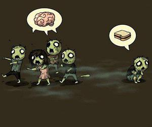 zombie, zombies, and brain image