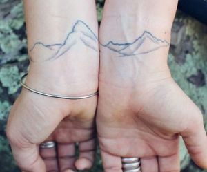 tattoo, mountains, and wrist image