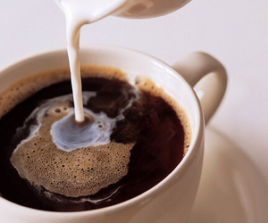 coffee, drink, and milk image