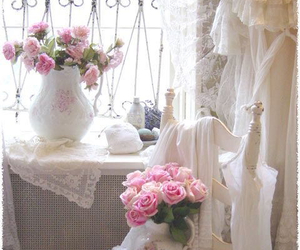 flowers, home, and shabby chic image