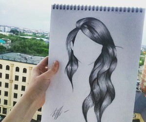 art, hair, and morning image