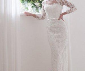 sheath wedding dress image
