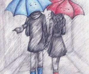 cool, drawing, and couple image