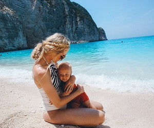 baby, summer, and blonde image
