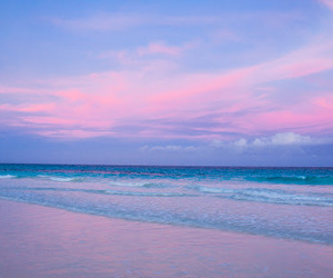 beach, beautiful, and pink image