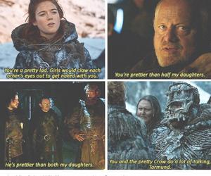 game of thrones, tormund giantsbane, and jon snow image