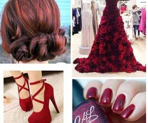 hair, high heels, and nail image