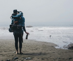beach, travel, and indie image