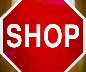 police, red, and shopping image
