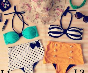 bikini, fashion, and summer image