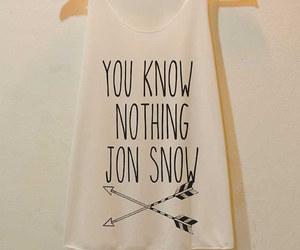 shirt, game of thrones, and jon snow image