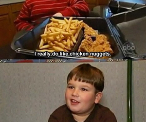 funny, food, and nuggets image