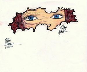 azul, desenho, and drawing image