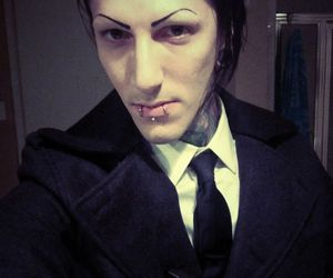 motionless in white, chris motionless, and band image