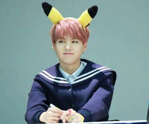 pikachu, bts, and yoongi image