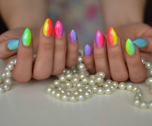 colorful, hybrid, and nails image
