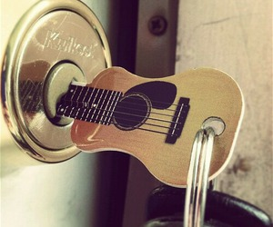 guitar, key, and music image