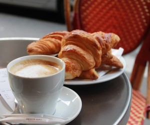 cafe, paris, and croissant image