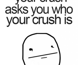 crush, awkward, and poker face image