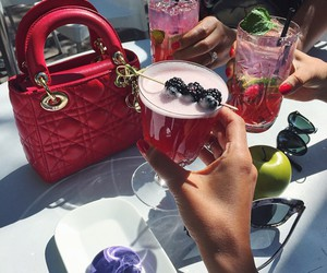 dior, drink, and red image