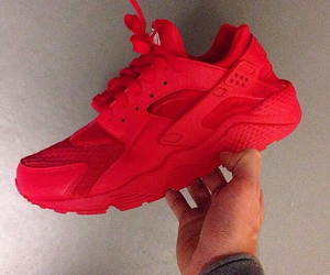 huarache, neon, and red image