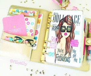 agenda, fashion, and filofax image