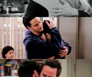 friends, chandler bing, and hug image
