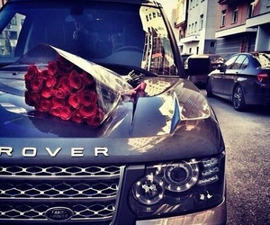 car, rose, and range rover image