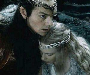 elf, the hobbit, and galadriel image