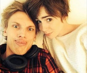 Jamie Campbell Bower, sweet, and lily collins image