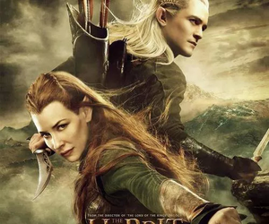 Legolas, tauriel, and the hobbit image