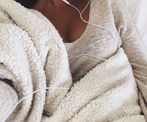 girl, music, and cozy image