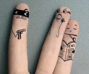 fingers, funny, and art image
