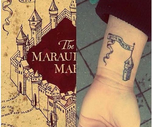 tattoo, harry potter, and hogwarts image