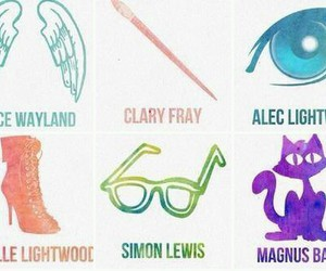 clary fray, simon lewis, and isabelle lightwood image