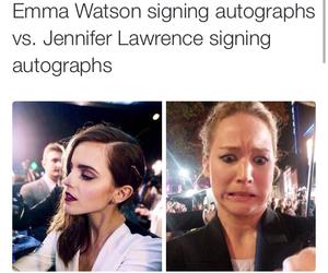 emma watson, funny, and Jennifer Lawrence image