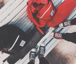 backpack, converse, and penny image
