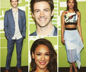 the flash, grant gustin, and candice patton image