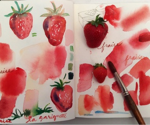 art and strawberry image
