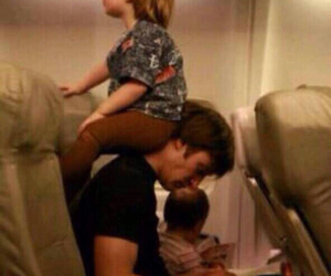 airplane, dad, and family image