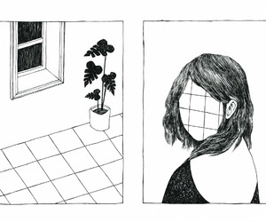 drawing, grunge, and plants image