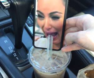drink, funny, and kim kardashian image