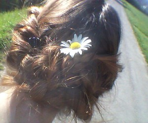 brown, flower, and girl image
