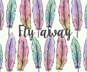 fly, away, and feather image