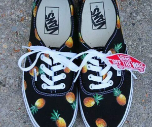 vans, shoes, and pineapple image