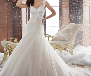 dress, weddingdress, and wedding image