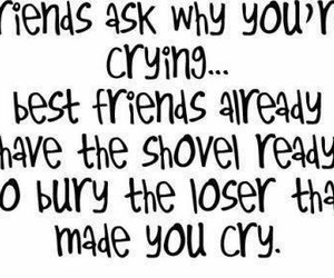 friends, best friends, and cry image